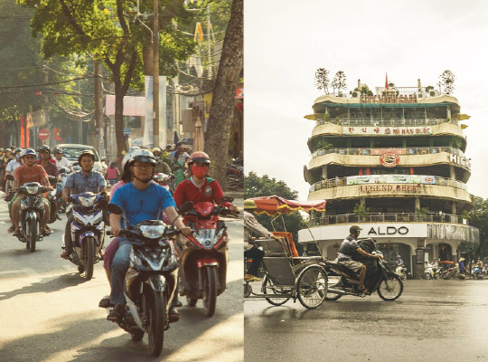 Retail store comparisons between HCM and Hanoi